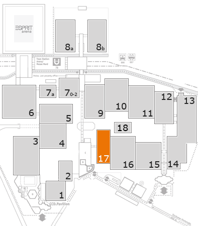 ProWein 2017 fairground map: Hall 17