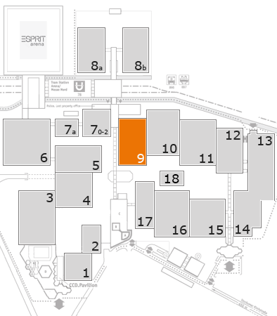 ProWein 2018 fairground map: Hall 9