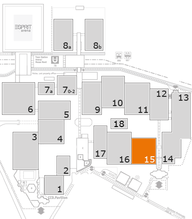 ProWein 2018 fairground map: Hall 15