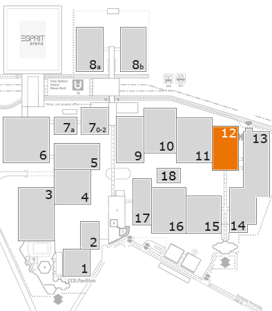 ProWein 2018 fairground map: Hall 12