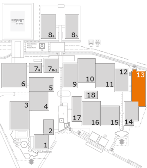 ProWein 2017 fairground map: Hall 13