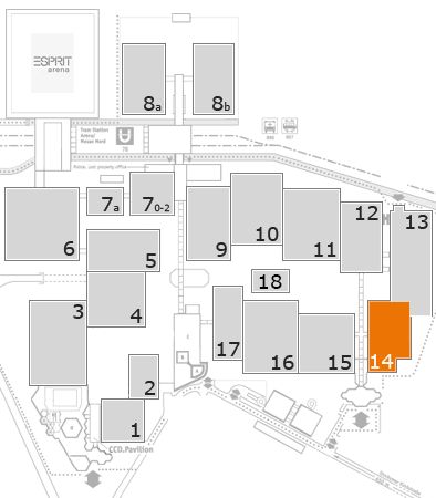 ProWein 2018 fairground map: Hall 14