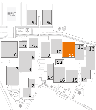 ProWein 2018 fairground map: Hall 11